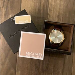 Michael Kors leather strapped women's watch